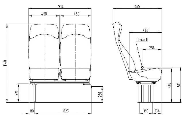 Как сделать профиль у сиденья